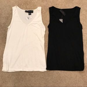 Tops - Black white v Neck tank bundle